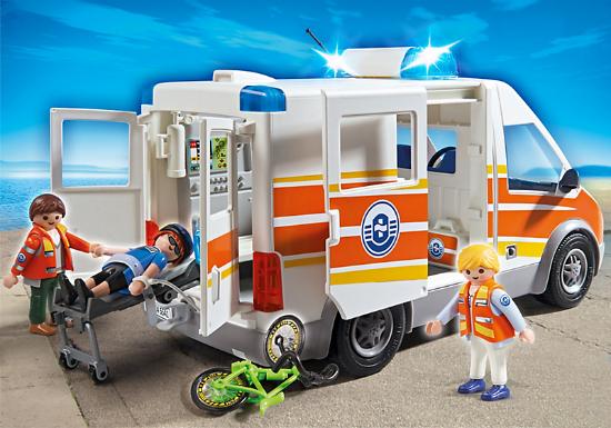 playmobil ambulance with siren smart kids toys. Black Bedroom Furniture Sets. Home Design Ideas