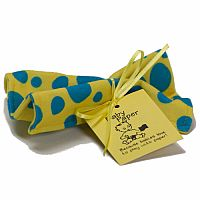 Baby Paper - Yellow with Blue Dots