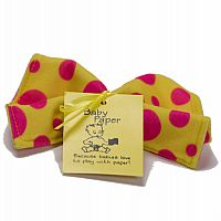 Baby Paper - Yellow with Pink Dots