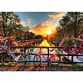 Bicycles in Amsterdam 1000 Piece Puzzle
