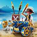 Playmobil Blue Cannon with Pirate