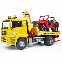 Bruder MAN TGA Tow Truck with Vehicle