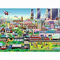 Busy Neighborhood 60 Pc Puzzle