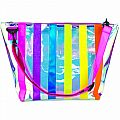 Iridescent Striped Clear Tote