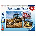 Diggers At Work 3x49 Piece Puzzle