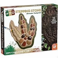 Paint Your Own Dinosaur Footprint Stepping Stone