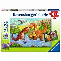 Dinosaur At Play 2x24 Piece Puzzle