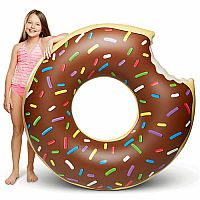 Giant Donut Pool Float - Chocolate Frosted