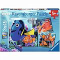Finding Dory 3X49 Piece Puzzles