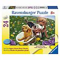 Frolicking Puppies 24 Piece Floor Puzzle