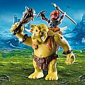 Playmobil Giant Troll with Dwarf Fighter