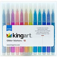 Kingart Glitter Marker Set of 12