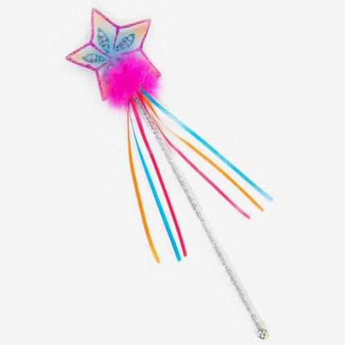 Glitter rainbow wand fushia pink smart kids toys for Glitter wand