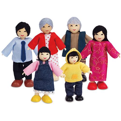 Hape Happy Family Asian Smart Kids Toys