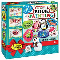 Holiday HIde & Seek Rock Painting