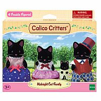 Calico Critters Midnight Cat Family