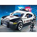 Playmobil Police Car with Flashing Lights