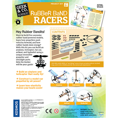 Geek Amp Co Rubber Band Racers Smart Kids Toys