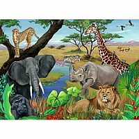 Safari Animals 60 Pc Puzzle