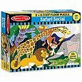 Safari Social Floor Puzzle (24 pc)