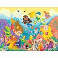 Splashing Mermaids Floor Puzzle 24 PC