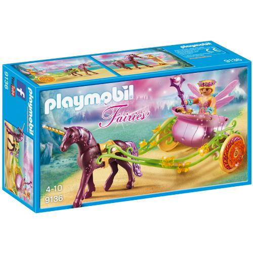 playmobil unicorndrawn fairy carriage  smart kids toys