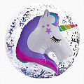 Unicorn 3D Glitter Confetti Beach Ball