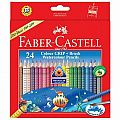 Faber-Castell 24 GRIP Watercolor EcoPencils